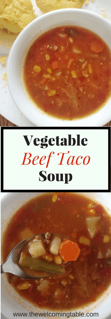 Vegetable Beef Taco Soup
