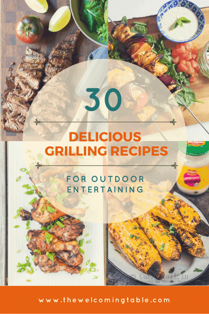 When the weather warms up enough for grilling, try these 30 delicious grilling recipes that are perfect for outdoor entertaining.