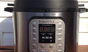 an Instant Pot with a white background