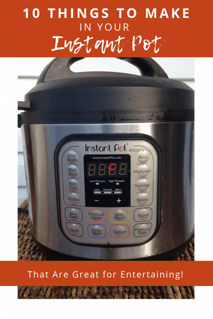 picture of instant pot on basket