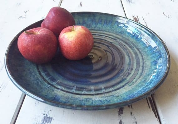 This blue serving platter is a great gift for a hostess!