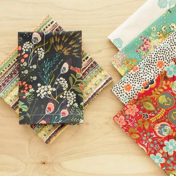 set of colorful napkins
