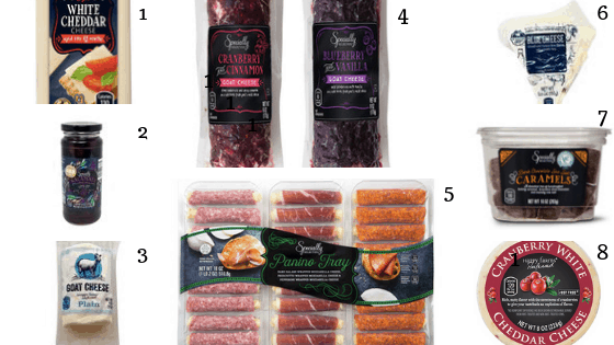 aldi's ingredients you can use in a charcuterie board