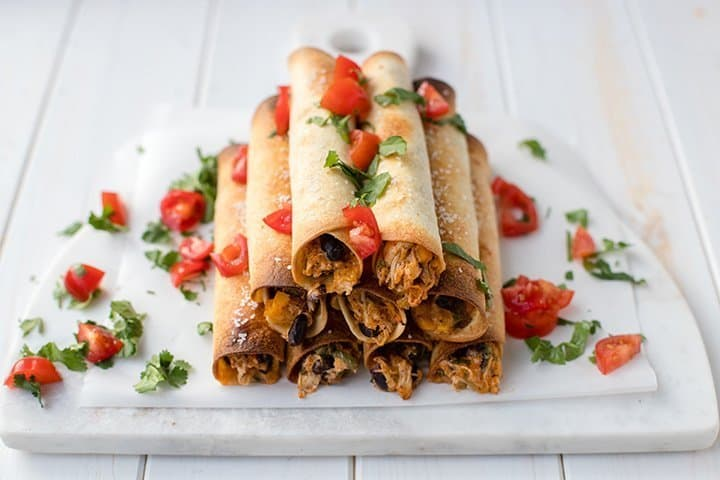 oven-baked chicken black bean taquitos your guests will love
