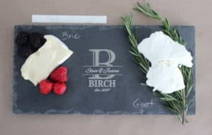 personalized slate charcuterie board for sale