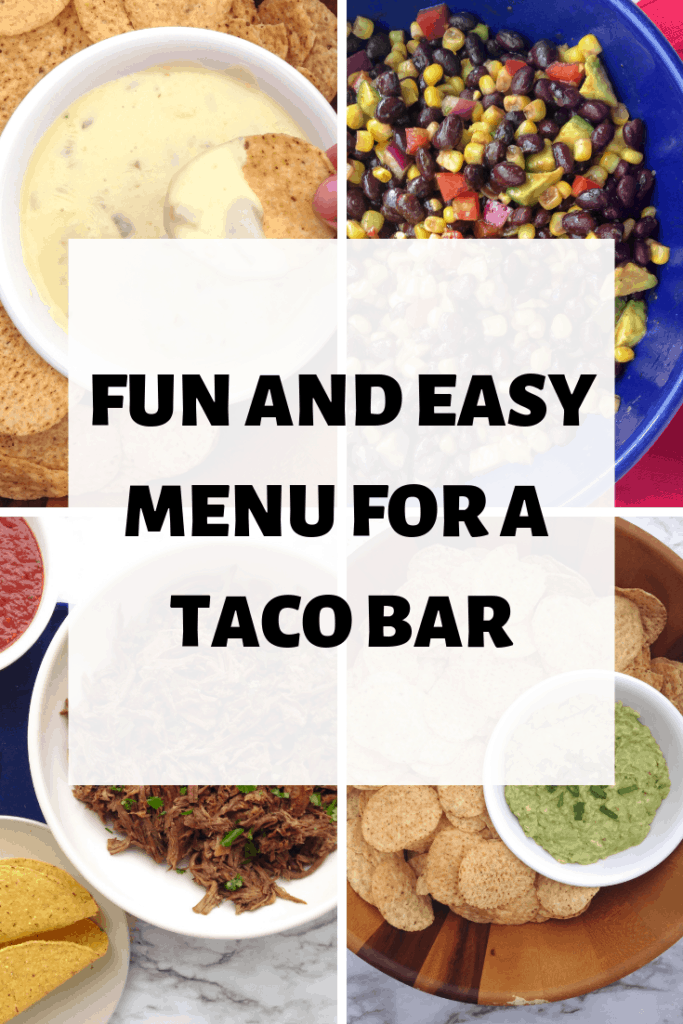 collage of taco bar recipes