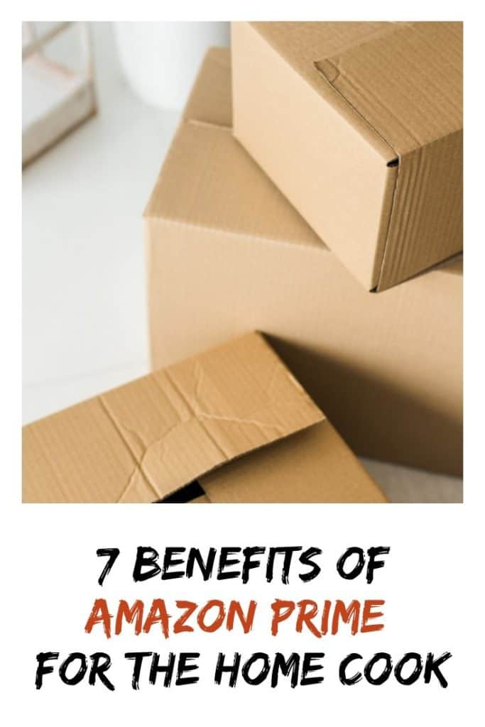 cardboard boxes in a pile -- 7 benefits of Amazon Prime