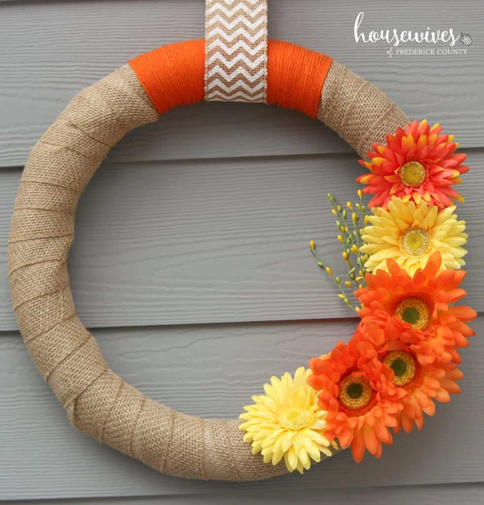 spring wreath for a girls night in craft idea