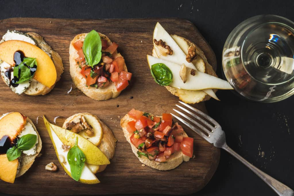 bruschettas for girls night in food idea