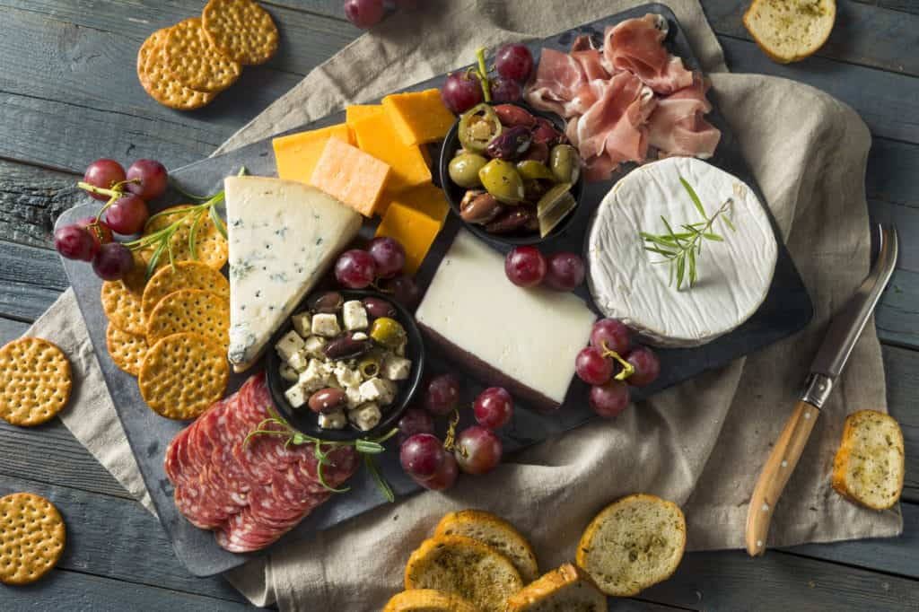 charcuterie board for girls night in food idea