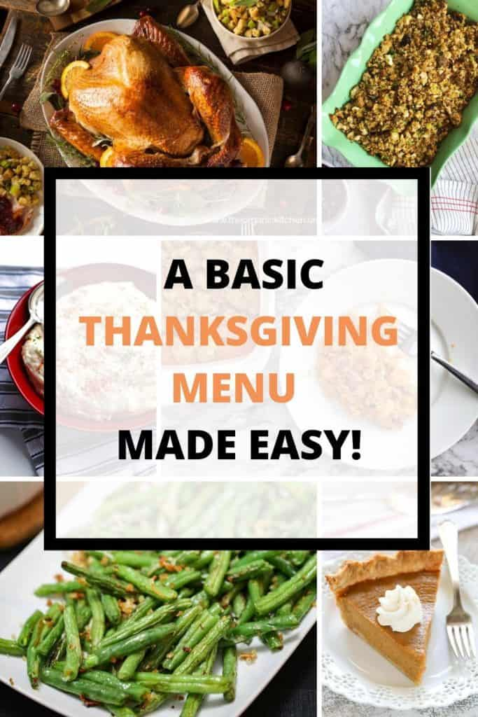 A Basic Thanksgiving Menu Made Easy