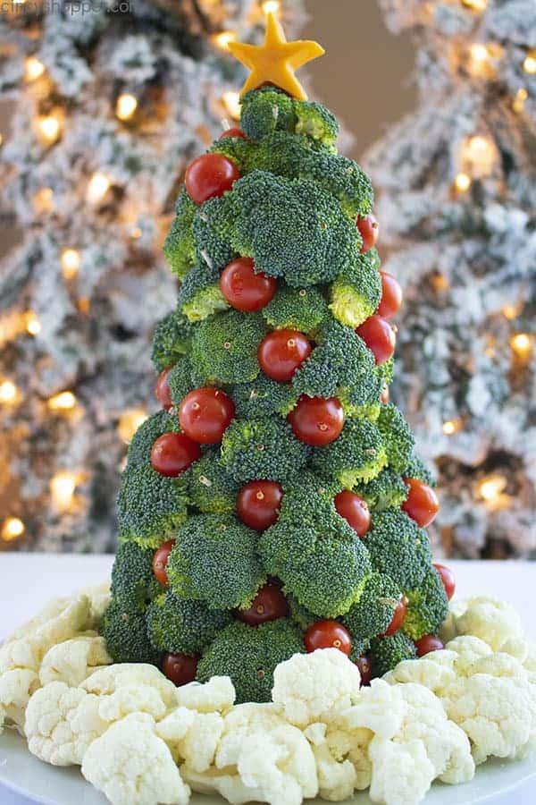 Veggie Christmas Tree Appetizer